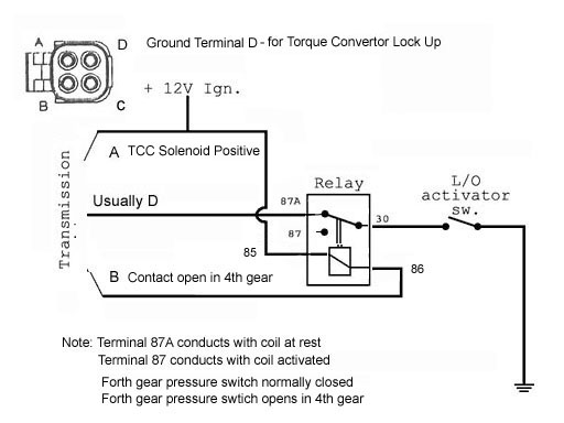Lock up relay using 4th gear logic 700r4 tcc wiring diagram diagram wiring diagrams for diy car repairs 700r4 transmission wiring diagram at crackthecode.co
